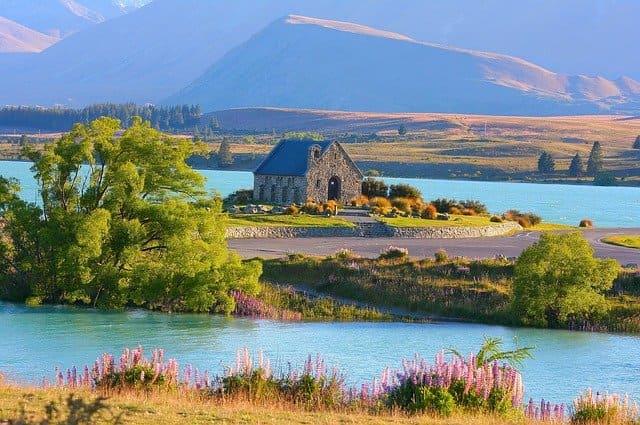 Lago tékapo de Nueva Zelanda